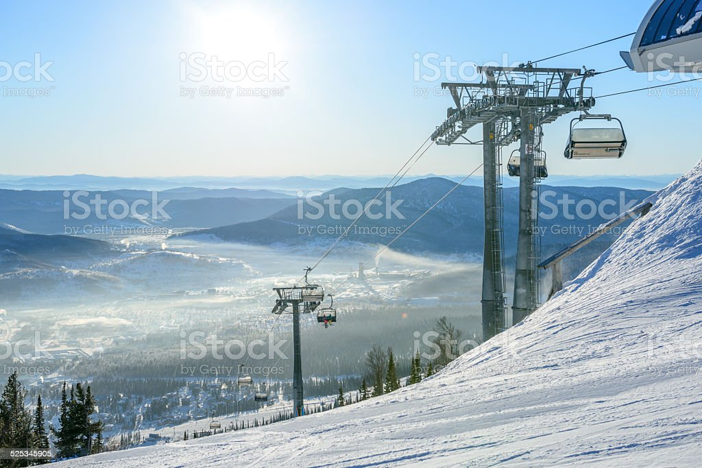 Ready for snowboarding stock photo