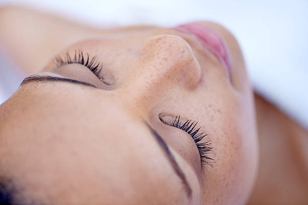 ready for some rest and relaxation at the beauty spa - nose stock photos and pictures