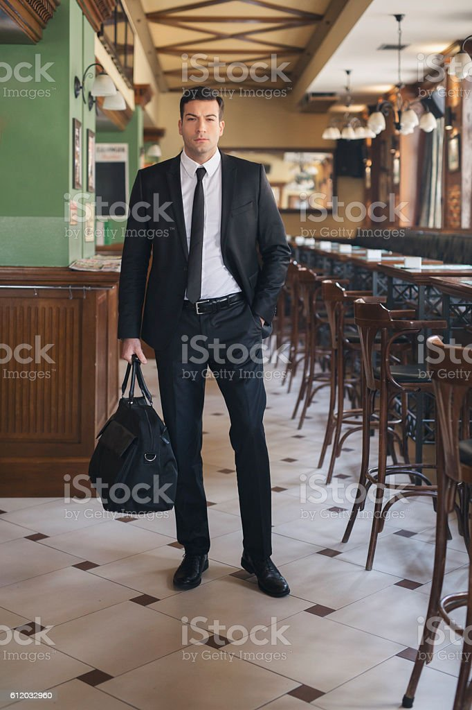 Ready for some serious business stock photo