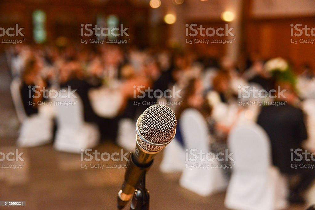 ready for speech stock photo