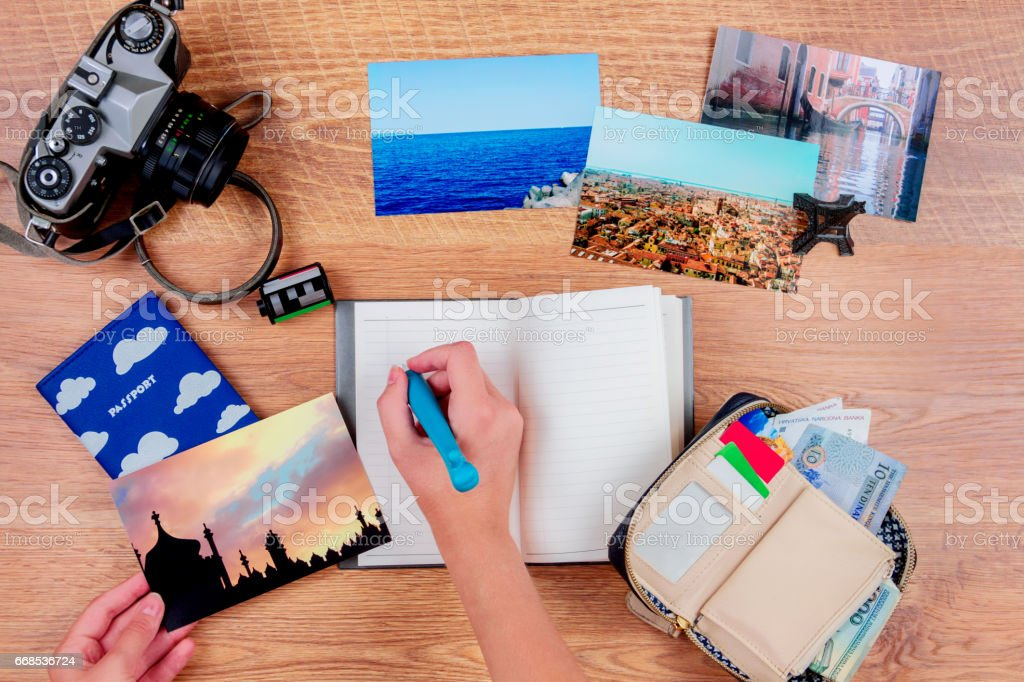 Ready for summer holidays stock photo