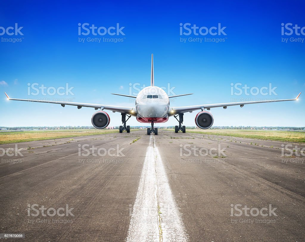 ready for take off stock photo