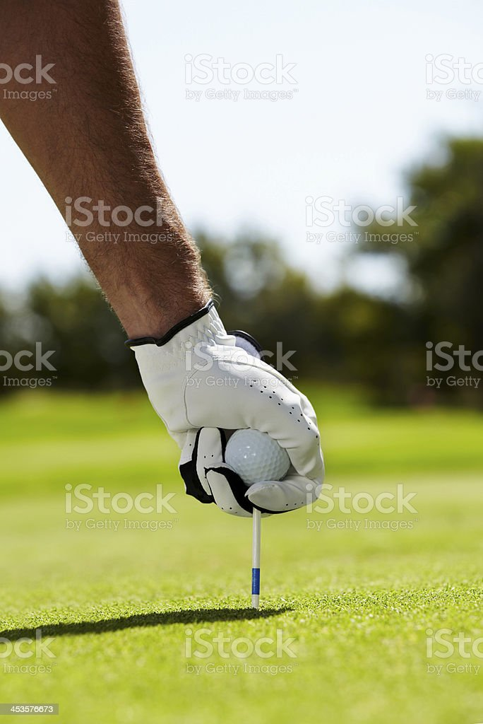 Ready for that hole in one royalty-free stock photo