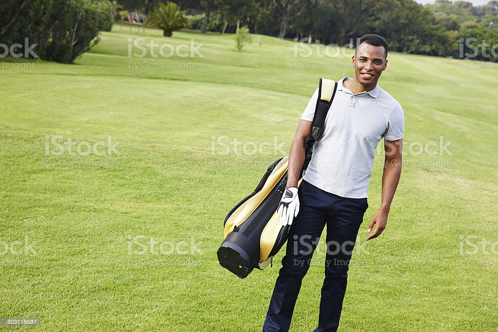 Ready for that hole in one stock photo