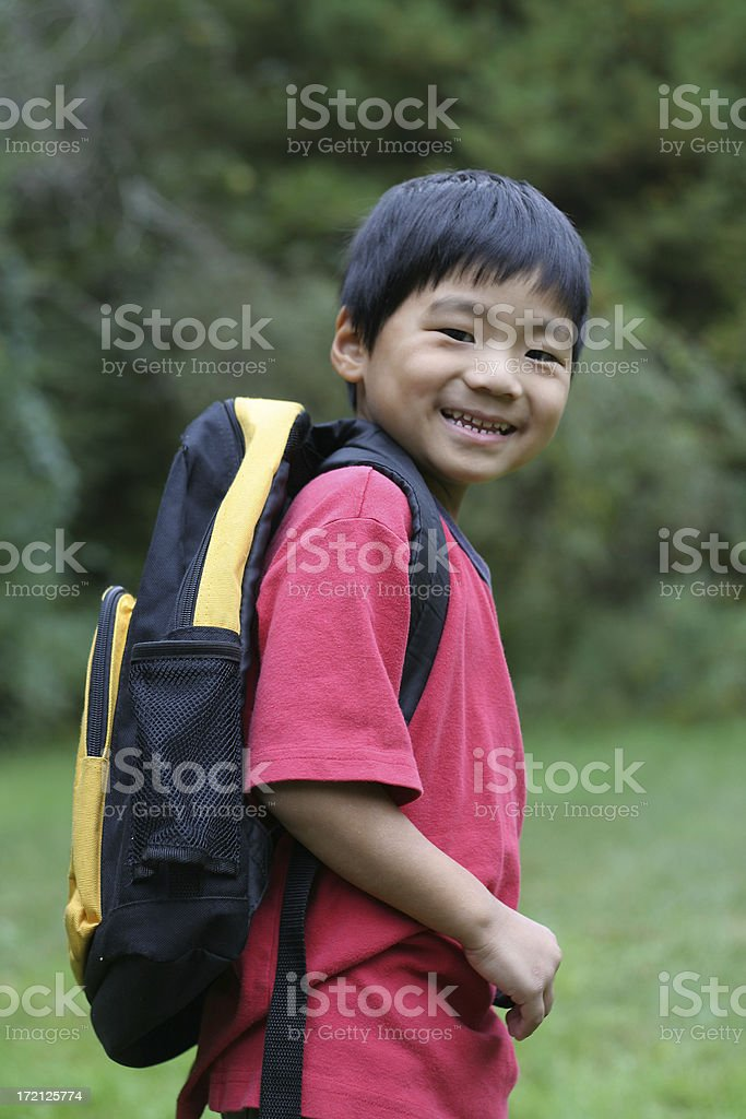 Ready for the first day of kindergarten! royalty-free stock photo