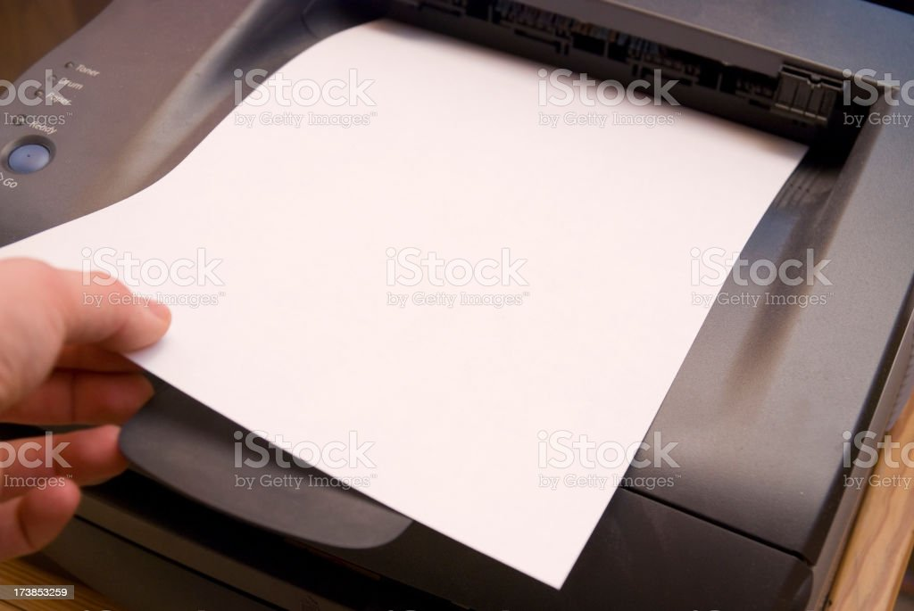 ready printer sheet stock photo