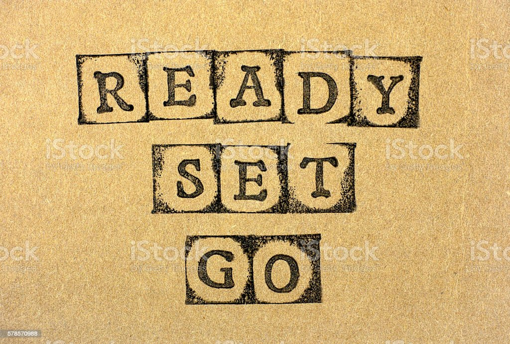Ready Set Go stock photo