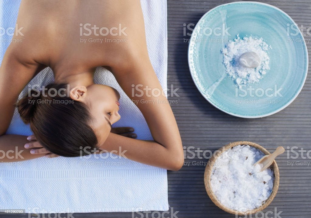 Ready to be pampered stock photo