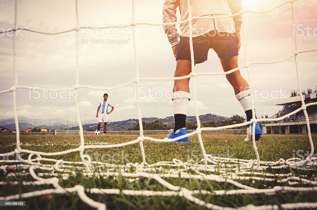 Ready To Beat A Penalty stock photo