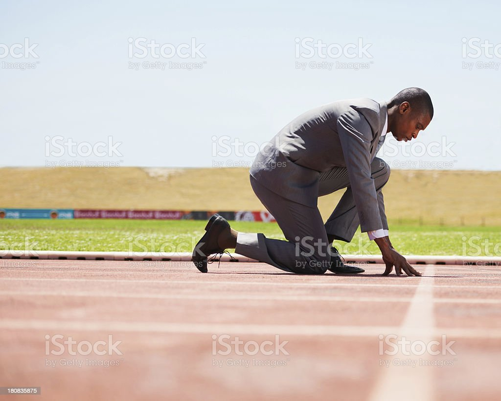 Ready to beat his competition royalty-free stock photo