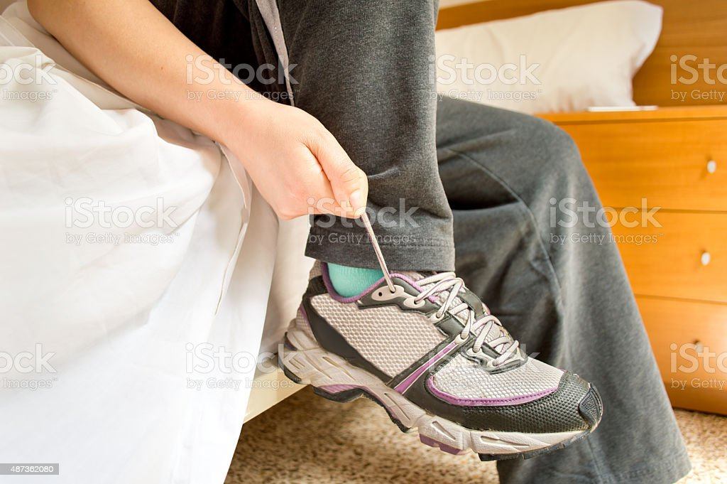 ready to begin the day with sport stock photo