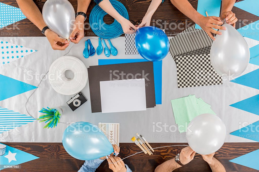 Ready to celebrate special event stock photo