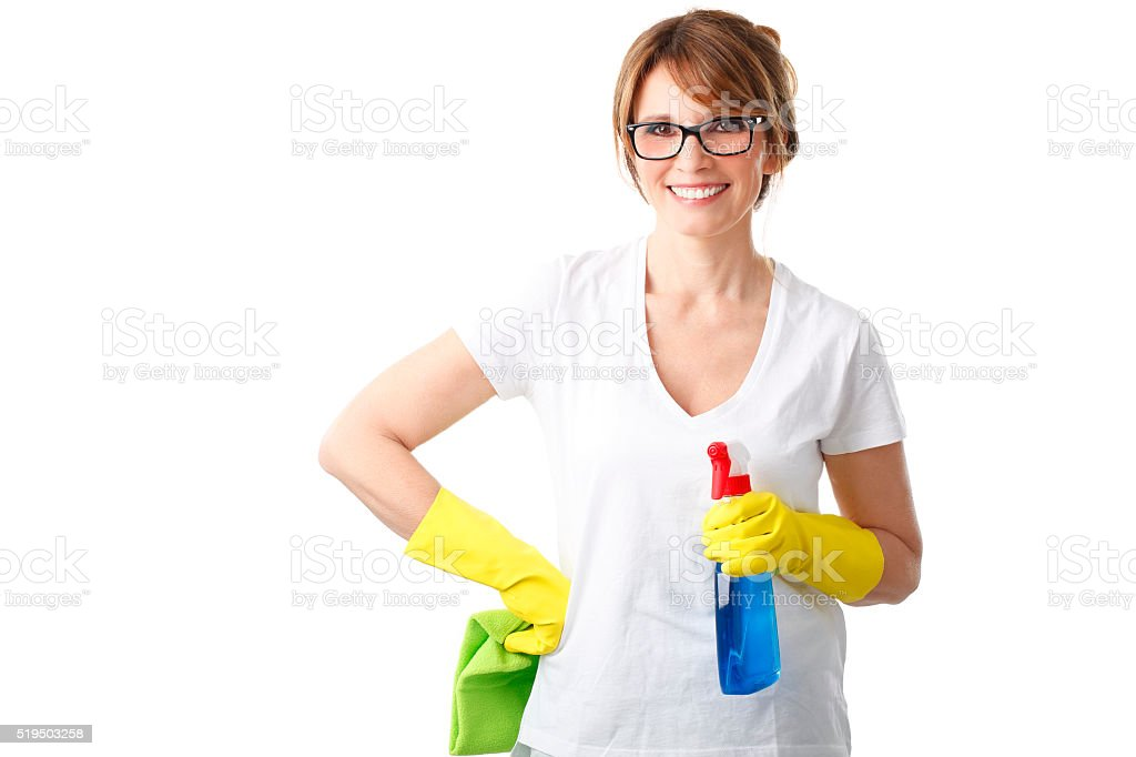 Ready to clean stock photo