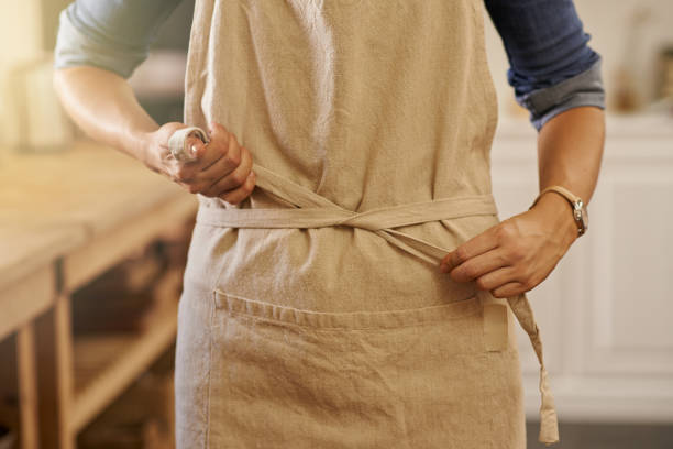 ready to cook up a storm - apron stock pictures, royalty-free photos & images