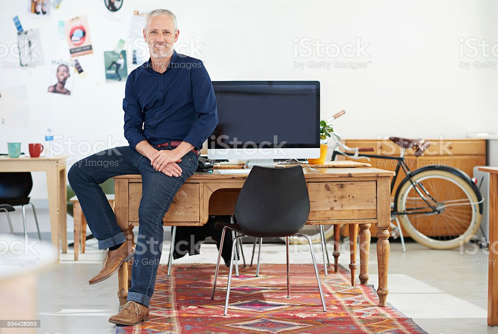 Ready to do business stock photo