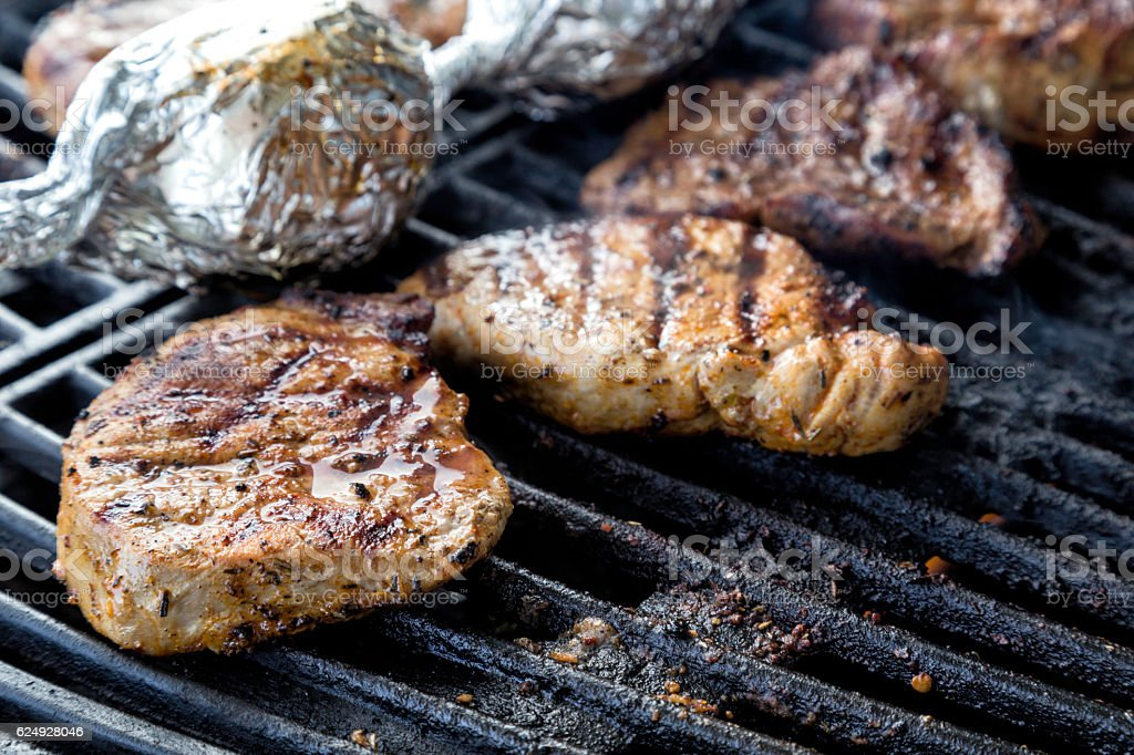 Ready to eat barbecue stock photo