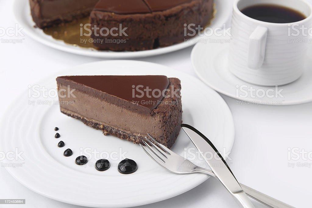 ready to eat cheesecake chocolate royalty-free stock photo