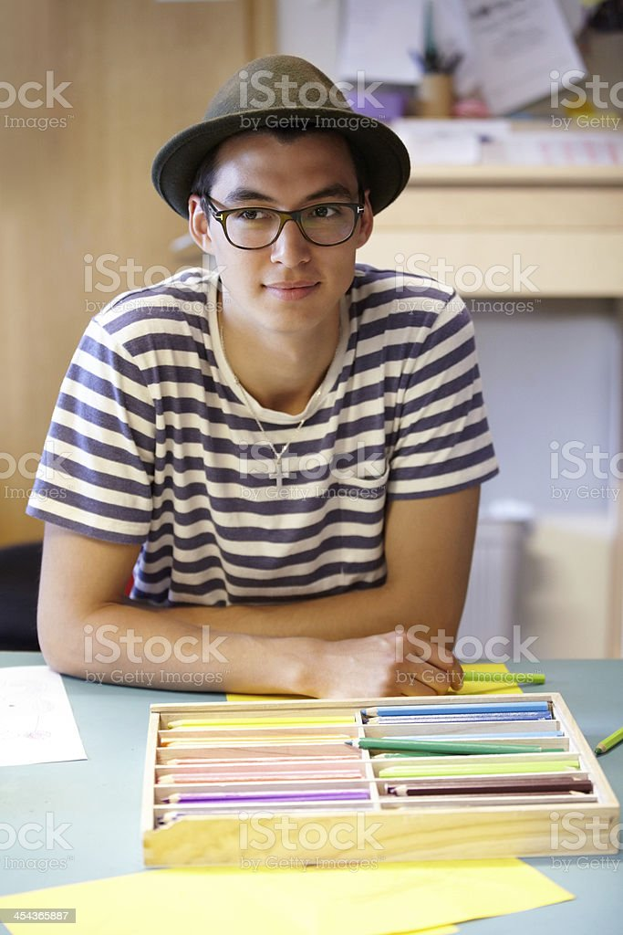 Ready to get creative royalty-free stock photo