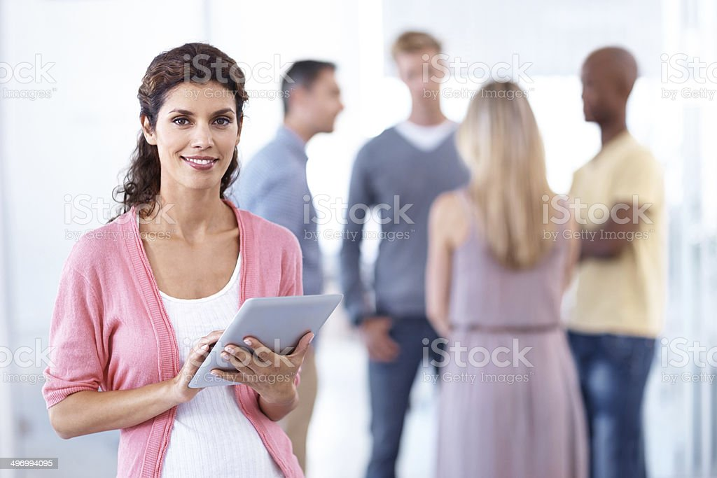 Ready to get her meeting started royalty-free stock photo
