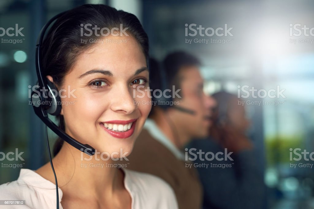 Ready to give you the assistance you need stock photo