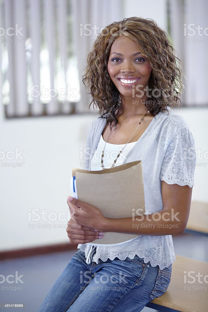 Ready to grade papers stock photo