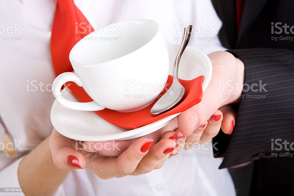 ready to have a coffee-break royalty-free stock photo