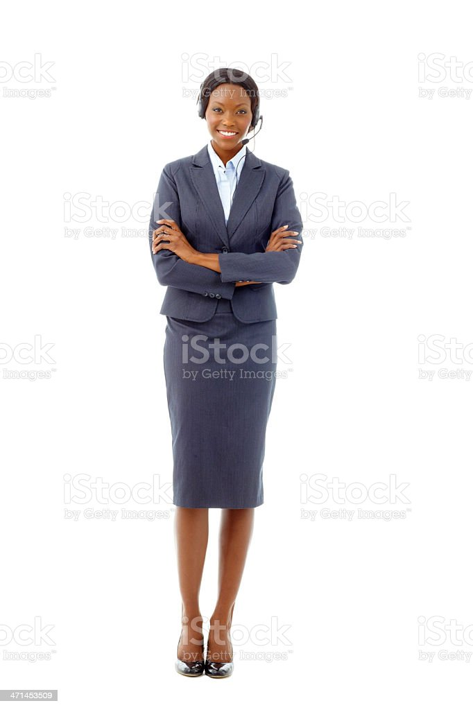 Ready to help in any way that she can stock photo