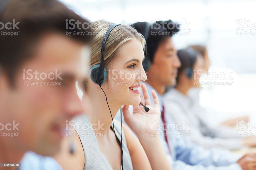 Ready to help stock photo