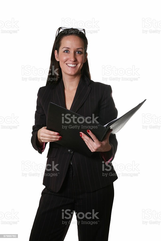 Ready to help you businesswoman royalty-free stock photo