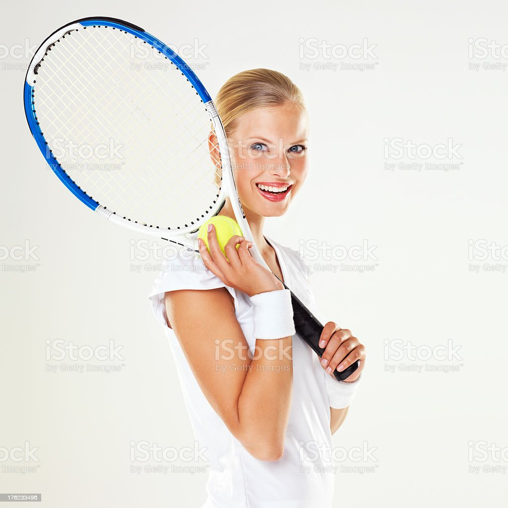Ready to hit the court royalty-free stock photo