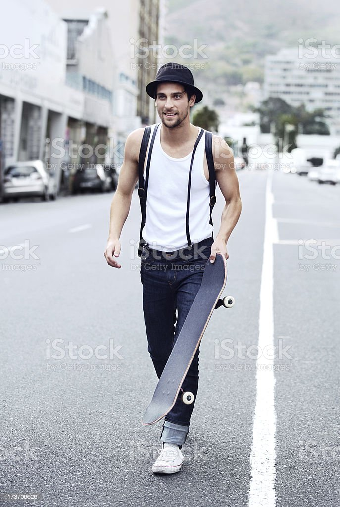 Ready to hit the streets royalty-free stock photo