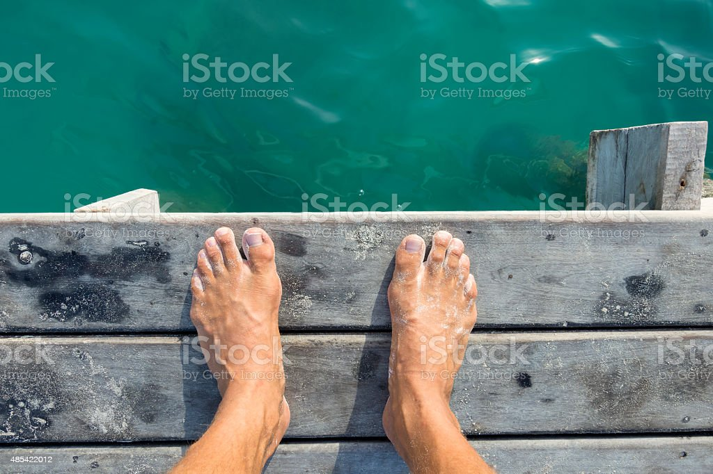 Ready to jump in stock photo