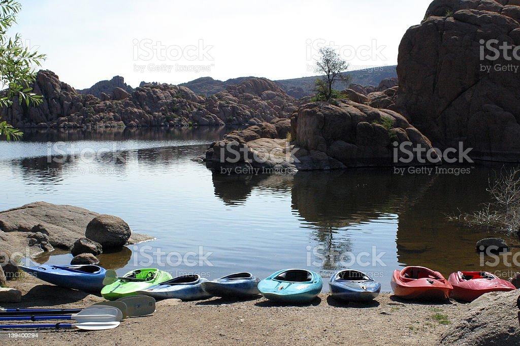 Ready to Kayak the Lake royalty-free stock photo