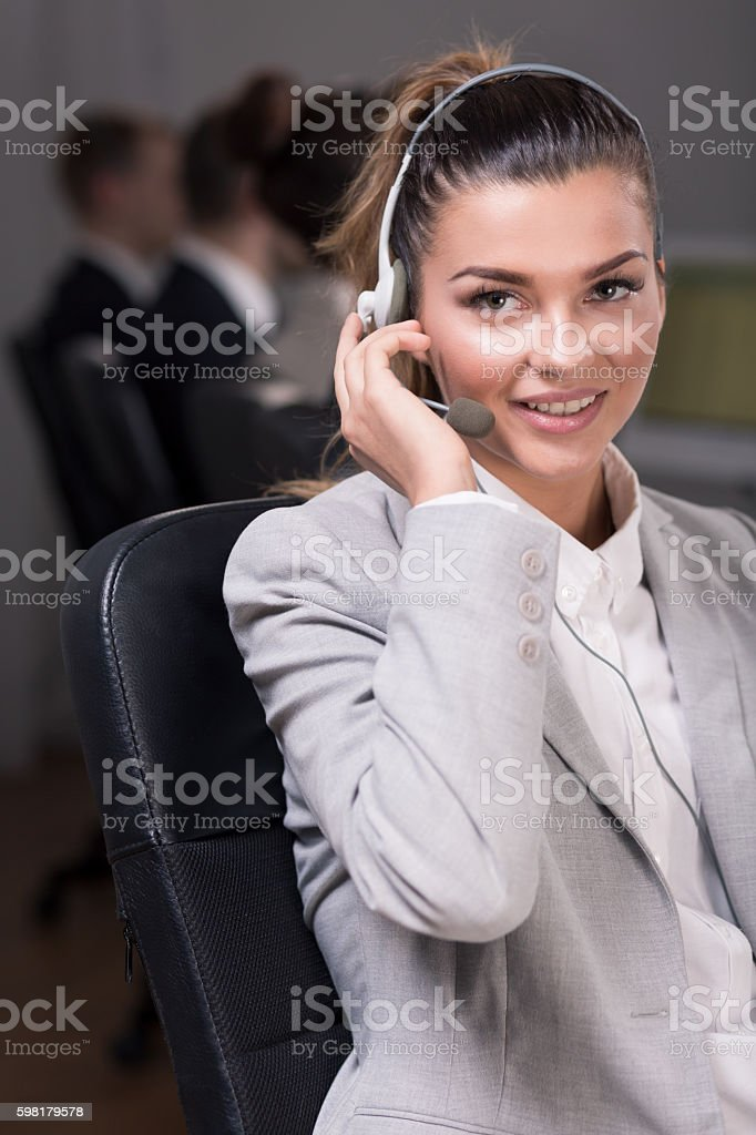 Ready to listen to you foto royalty-free