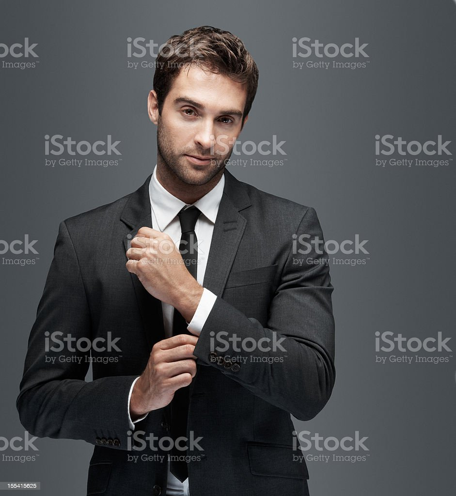 Ready to make an impression stock photo