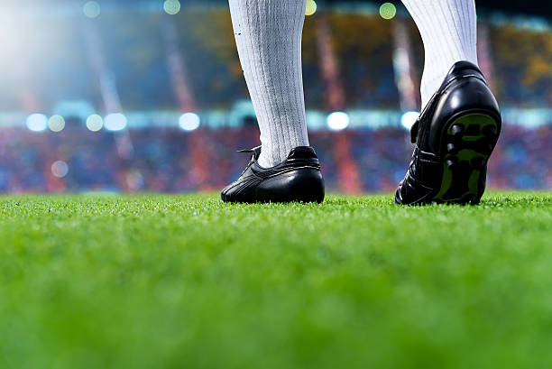 ready to play soccer match - foto de stock