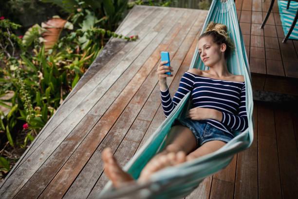 ready to relax - amaca foto e immagini stock