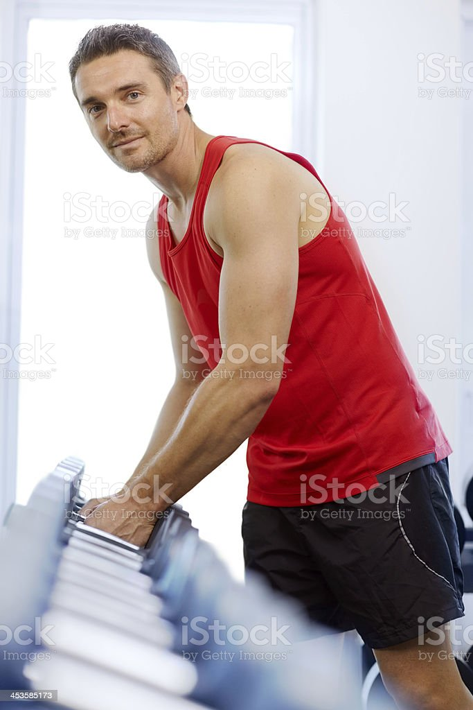 Ready to sculpt those muscles royalty-free stock photo