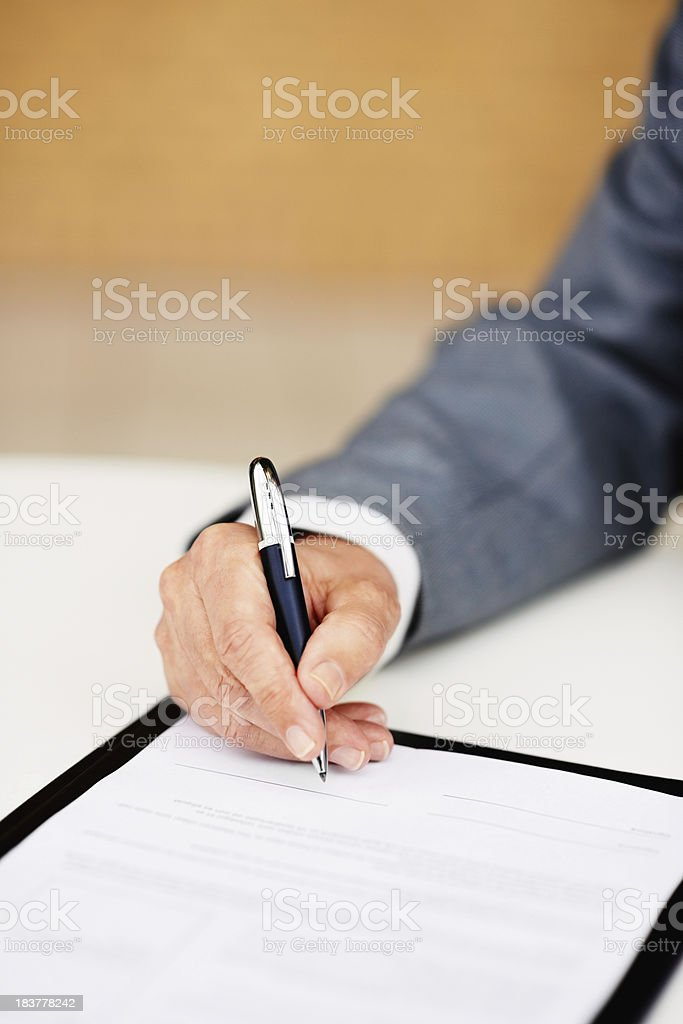 Ready to seal a deal royalty-free stock photo