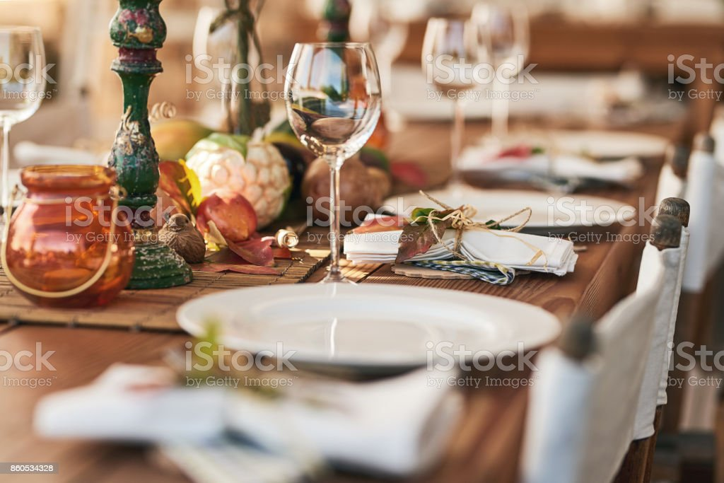 Pronto a servire il pranzo - Foto stock royalty-free di Ambientazione esterna
