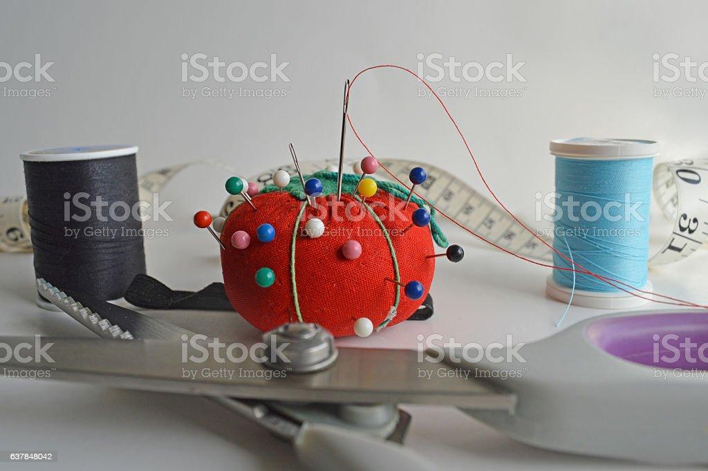 Ready to sew stock photo