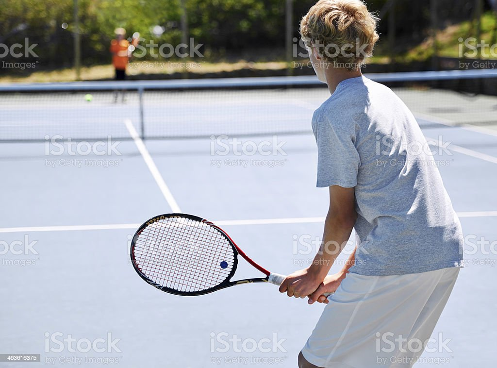 Ready to smash that serve stock photo