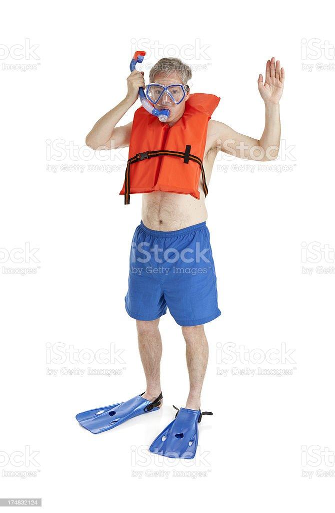 Ready to Snorkel royalty-free stock photo