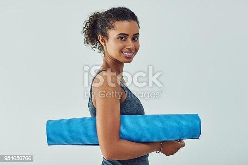 508386622istockphoto Ready to start yoga 954650766