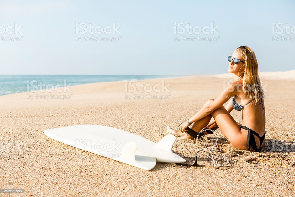 Ready to surf royalty-free stock photo