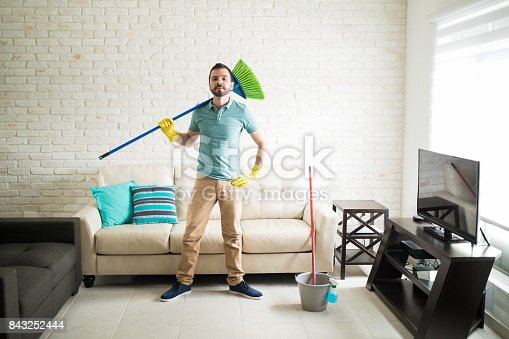 istock Ready to sweep the floor 843252444