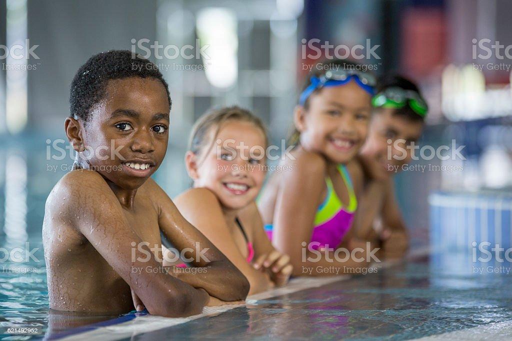 Bereit zum Schwimmen  Lizenzfreies stock-foto