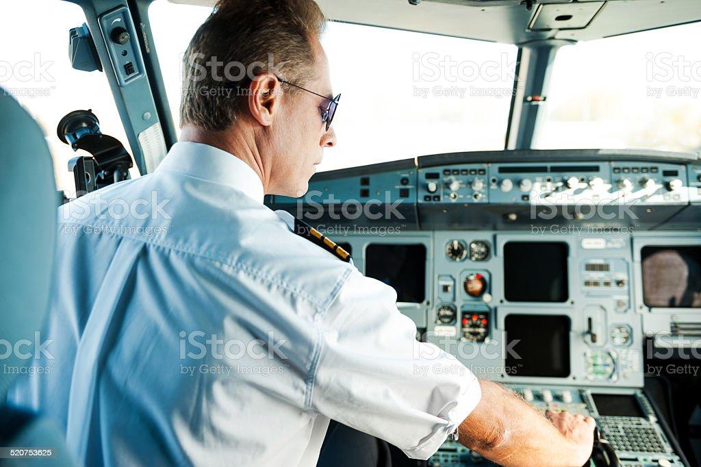 Ready to take off. stock photo