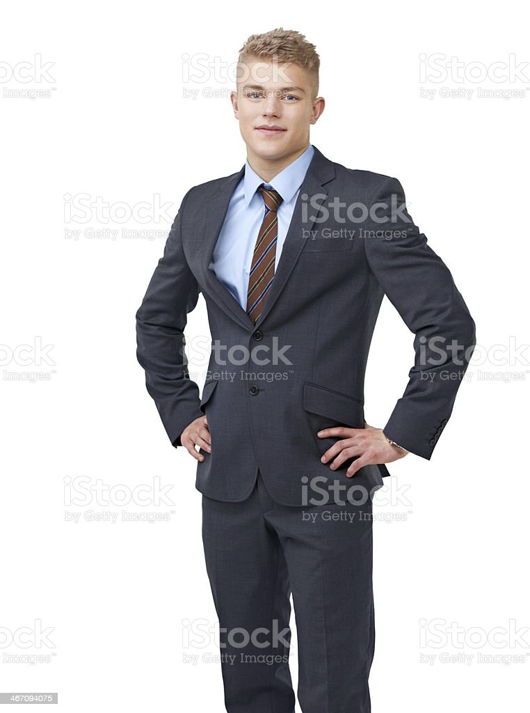 Ready to take on the business world royalty-free stock photo