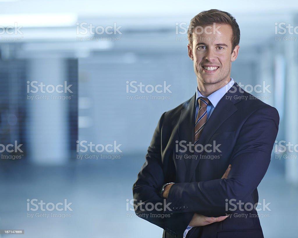 Ready to take on the businessworld stock photo
